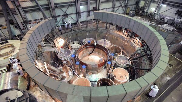 Assembling a reactor in the 'clean area' of the BN-800 power unit at the Beloyarskaya NPP - Sputnik International