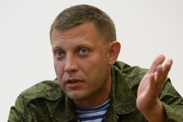 The self-proclaimed Donetsk People's Republic leader Alexander Zakharchenko - Sputnik International