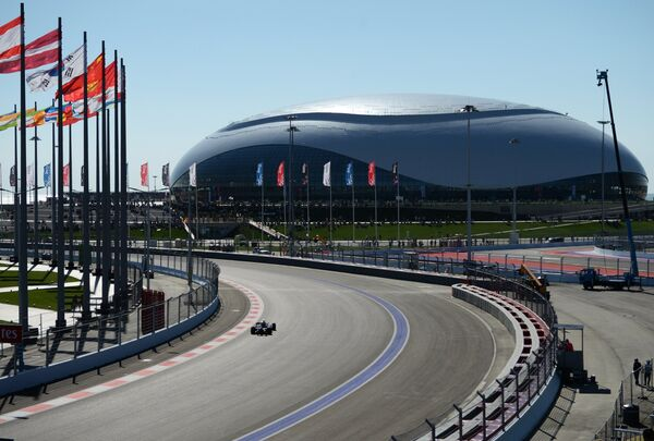 The Sochi Autodrom is 5.854 kilometers (2.637 miles) long and has 12 right turns and six left turns. - Sputnik International