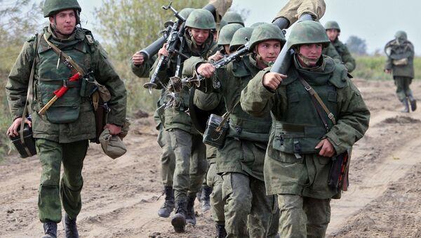 File Photo: Russian military during drills of the Baltic Fleet in Kaliningrad Region - Sputnik International