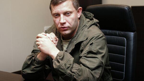 Prime Minister of Donetsk People's Republic Alexander Zakharchenko - Sputnik International