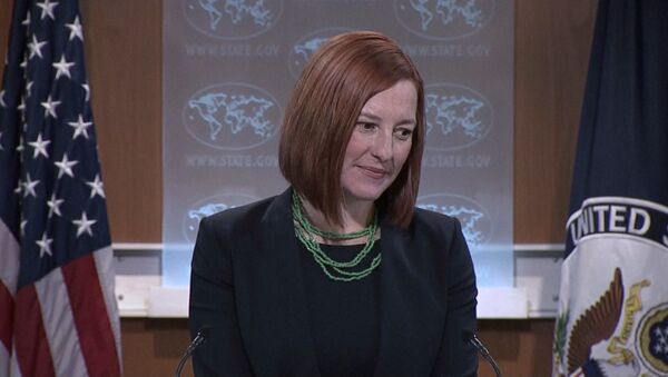 State Department spokesperson Jen Psaki announced that the United States denounces the movement of large military convoys in the Donetsk region, but does not have any proof that the heavy artillery and tanks belong to Russia. - Sputnik International