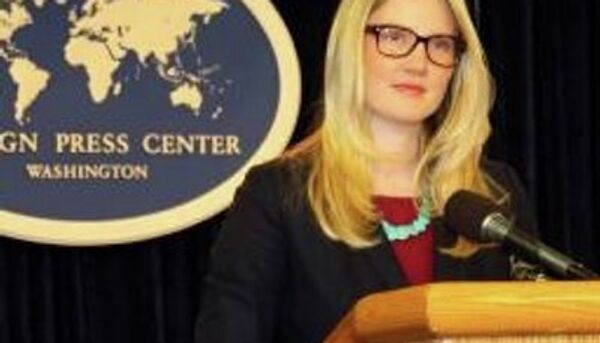 US Department of State spokesperson Marie Harf says the Congress plays an important role in the decision making process to reach an agreement with Iran on its nuclear program. - Sputnik International