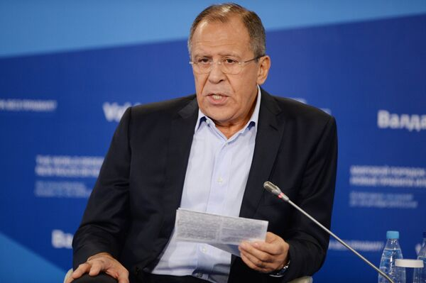 Russian FM said he is not interested in Western opinion of the present status of Crimea as well as other domestic issues within the country. - Sputnik International