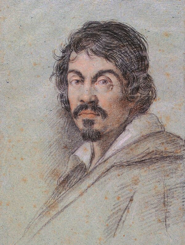 Chalk portrait of Caravaggio by Ottavio Leoni, circa 1621. - Sputnik International
